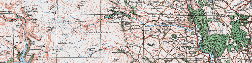 Old map of Wigtwizzle in 1924