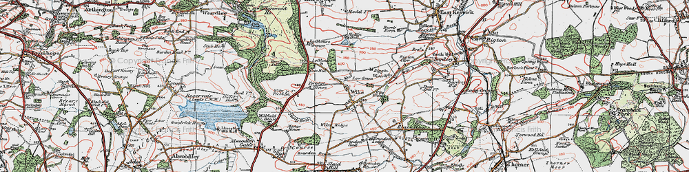 Old map of Wike Whin in 1925