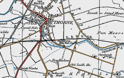 Old map of Wike Well End in 1923