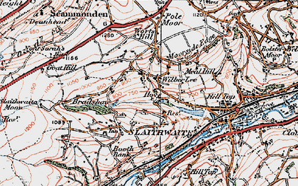 Old map of Wilberlee in 1925