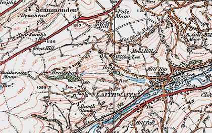 Old map of Wilberlee in 1925