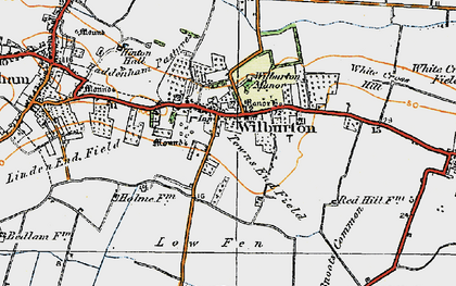 Old map of Wilburton in 1920