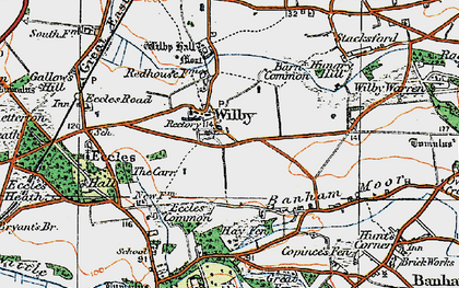 Old map of Wilby in 1920