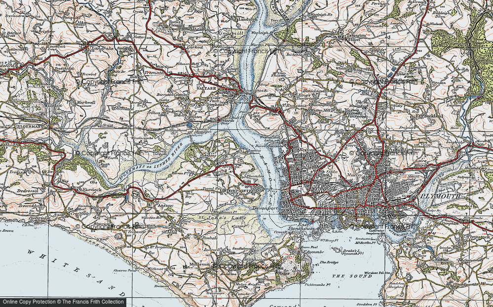 Old Map of Wilcove, 1919 in 1919