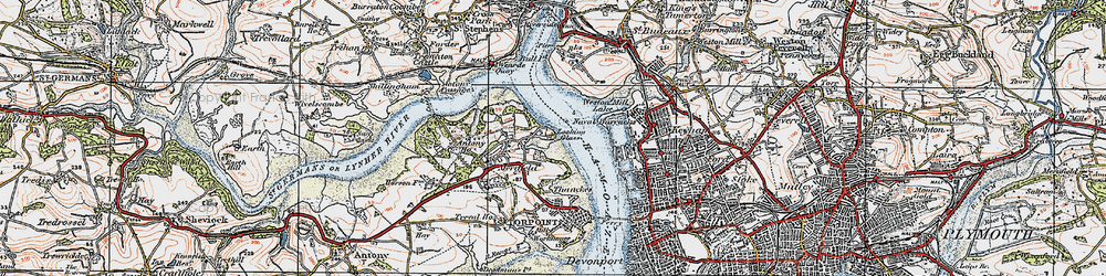 Old map of Wilcove in 1919