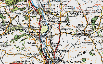 Old map of Wild Mill in 1922