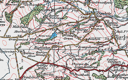 Old map of Wilday Green in 1923
