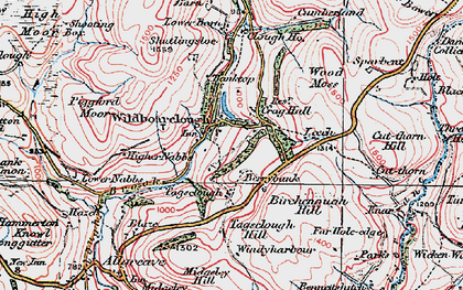 Old map of Oakenclough in 1923