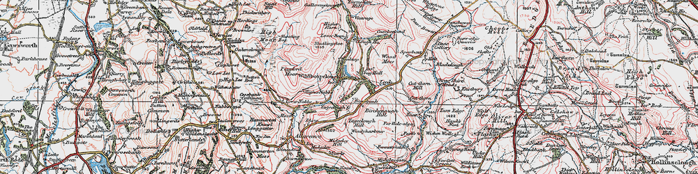 Old map of Wildboarclough in 1923