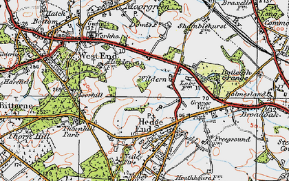Old map of Wildern in 1919