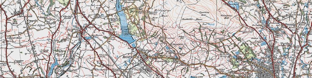 Old map of Wilderswood in 1924