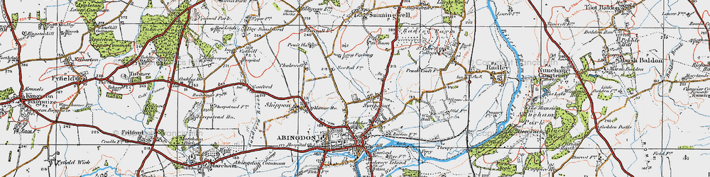 Old map of Wildmoor in 1919