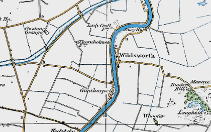 Old map of Wildsworth in 1923