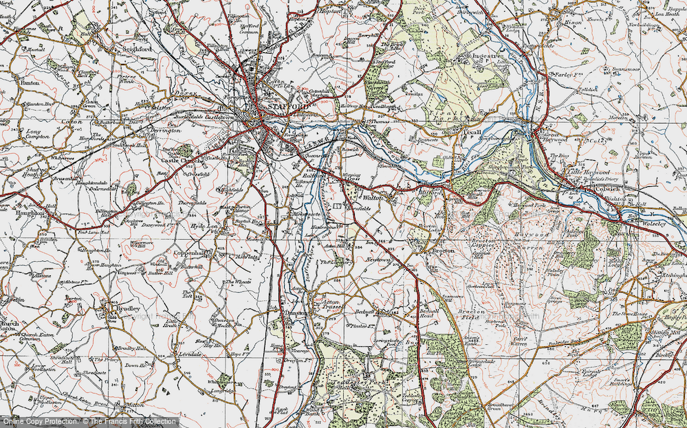 Old Map of Historic Map covering Larchery, The in 1921