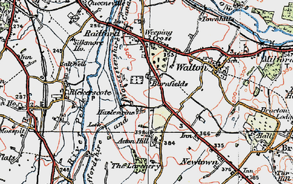 Old map of Larchery, The in 1921