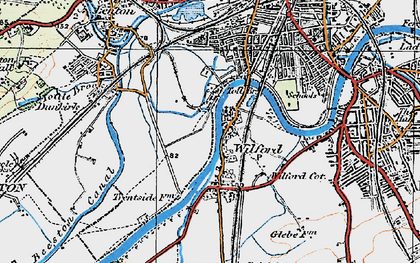 Old map of Wilford in 1921
