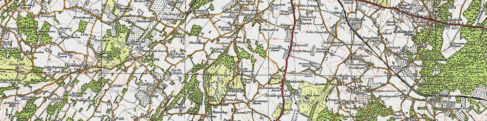 Old map of Wilgate Green in 1921