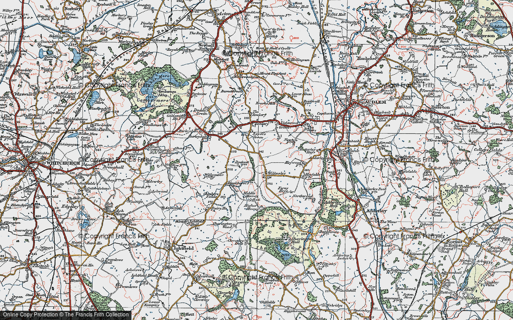 Old Map of Wilkesley, 1921 in 1921