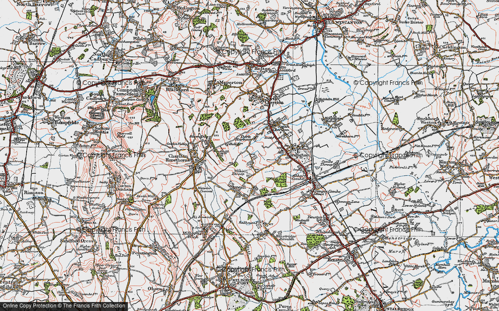 Old Map of Wilkin Throop, 1919 in 1919