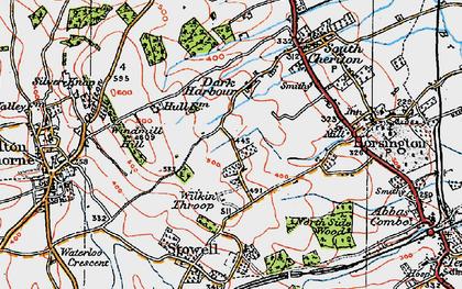 Old map of Wilkin Throop in 1919