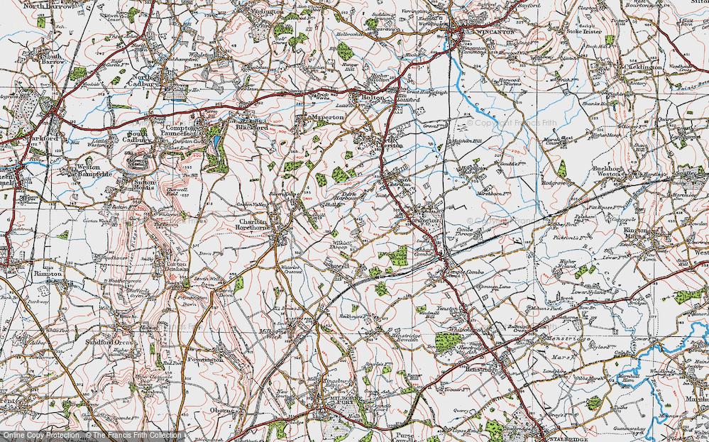 Old Map of Wilkinthroop, 1919 in 1919