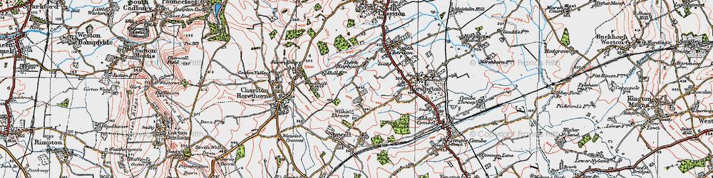 Old map of Wilkinthroop in 1919