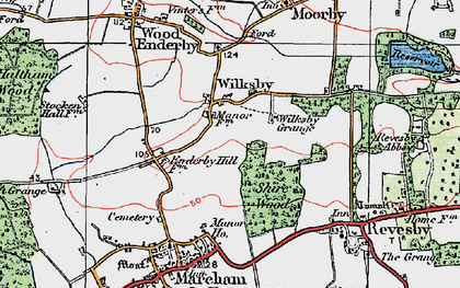 Old map of Wilksby in 1923