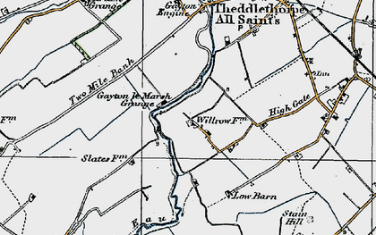 Old map of Will Row in 1923