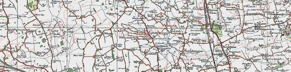 Old map of Willacy Lane End in 1924