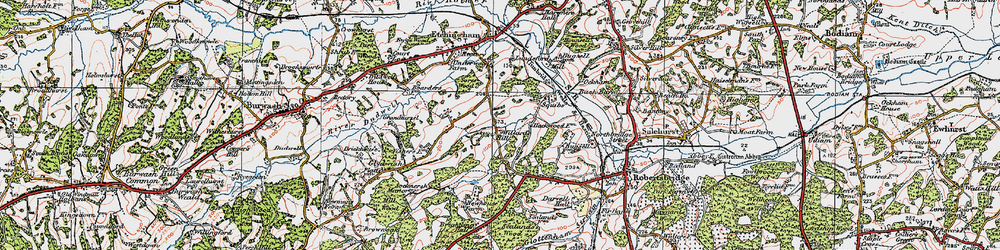 Old map of Willard's Hill in 1921