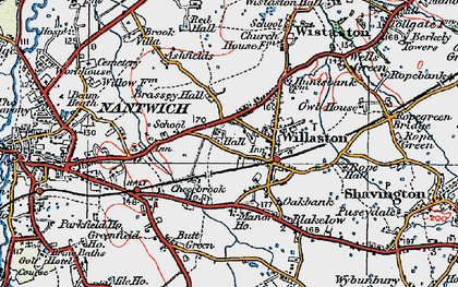 Old map of Willaston in 1921