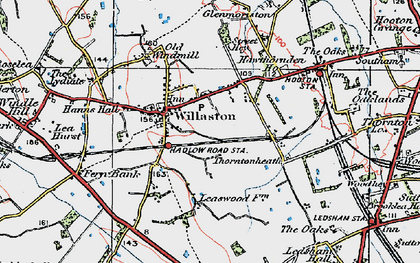 Old map of Willaston in 1924