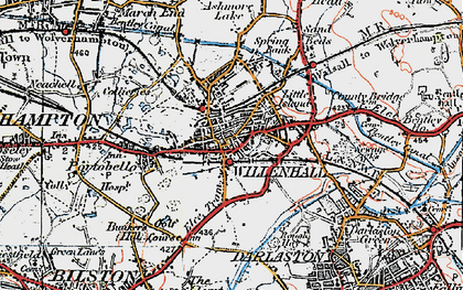Old map of Willenhall in 1921