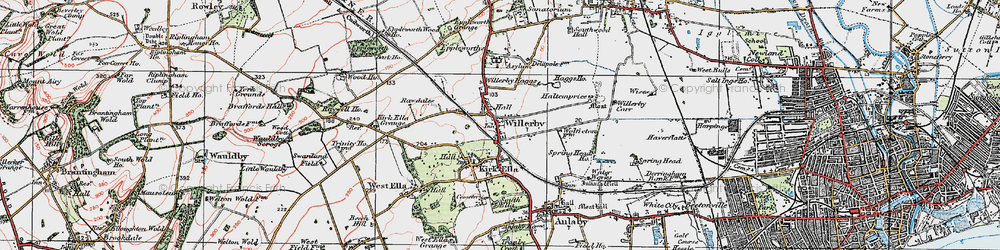 Old map of Willerby in 1924