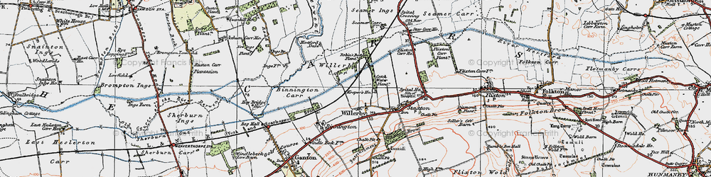 Old map of Willerby in 1925