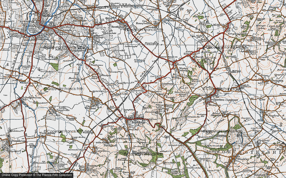 Old Map of Willersey, 1919 in 1919