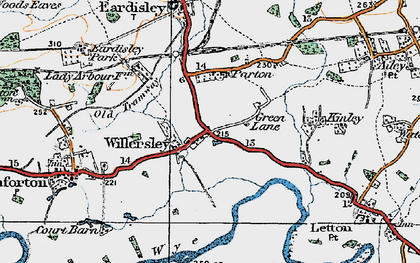 Old map of Willersley in 1920