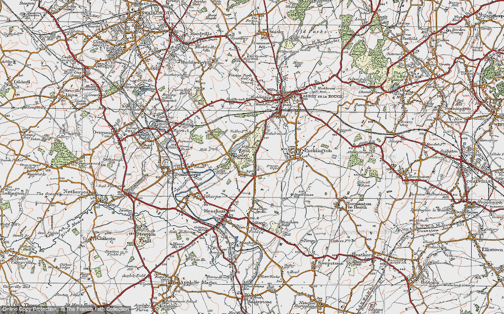 Old Map of Willesley, 1921 in 1921