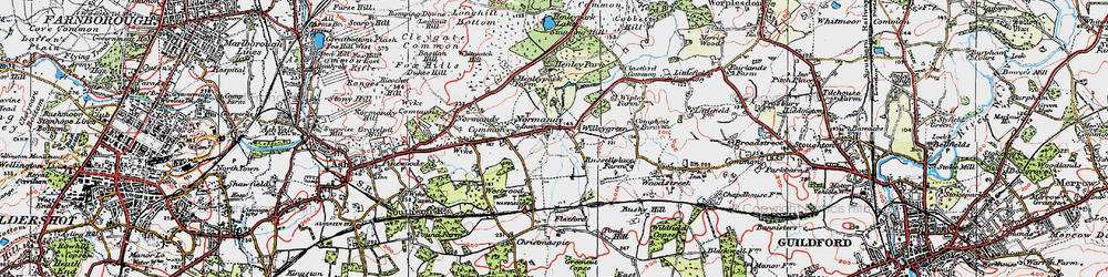Old map of Willey Green in 1920