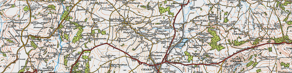 Old map of Willhayne in 1919