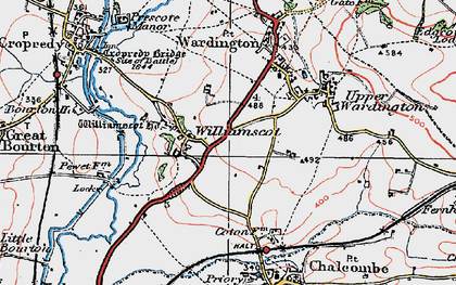 Old map of Williamscot in 1919