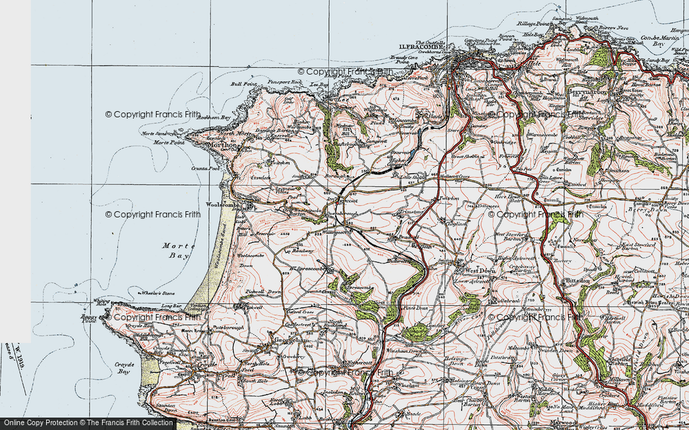 Old Map of Willingcott, 1919 in 1919