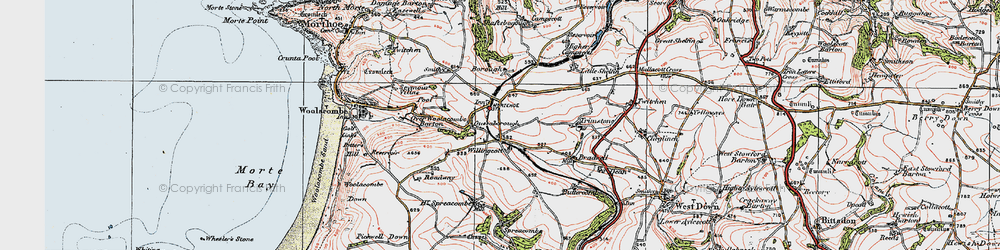 Old map of Willingcott in 1919