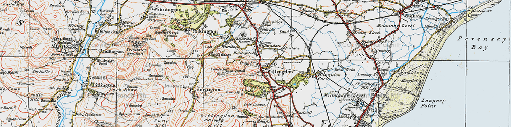 Old map of Willingdon in 1920