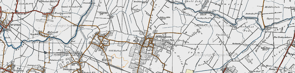 Old map of Willingham in 1920