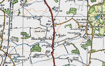 Old map of Willingham in 1921