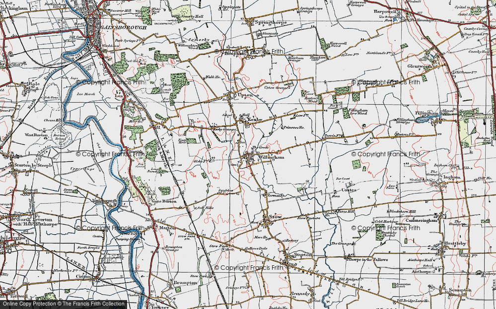 Old Map of Willingham by Stow, 1923 in 1923