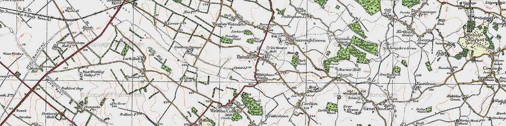 Old map of Willingham Green in 1920