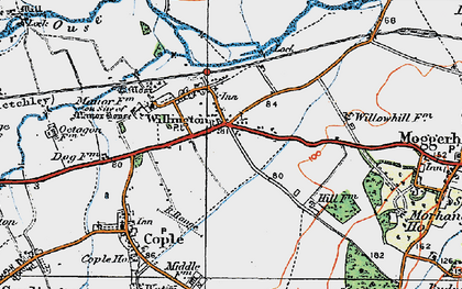 Old map of Willington in 1919