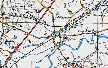 Old map of Willington in 1921